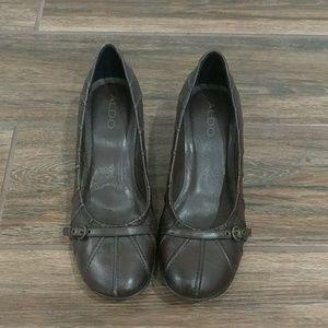 Aldo brown heels